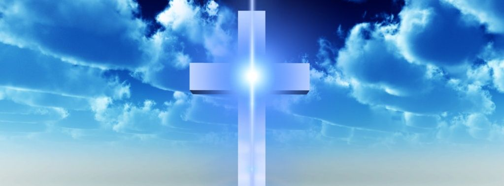 Cross with blue
